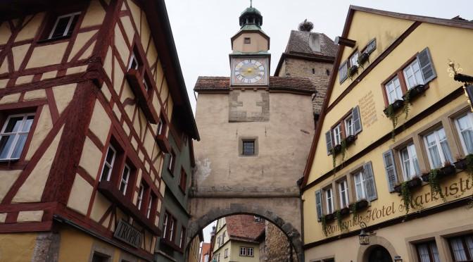 Fascinatia pentru orasele mici, in cazul de fata Rothenburg ob der Tauber
