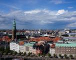Copenhaga - priveliste de la Palatul Cristiansborg