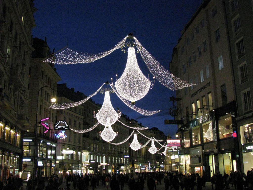 Luminitele de Craciun din Viena