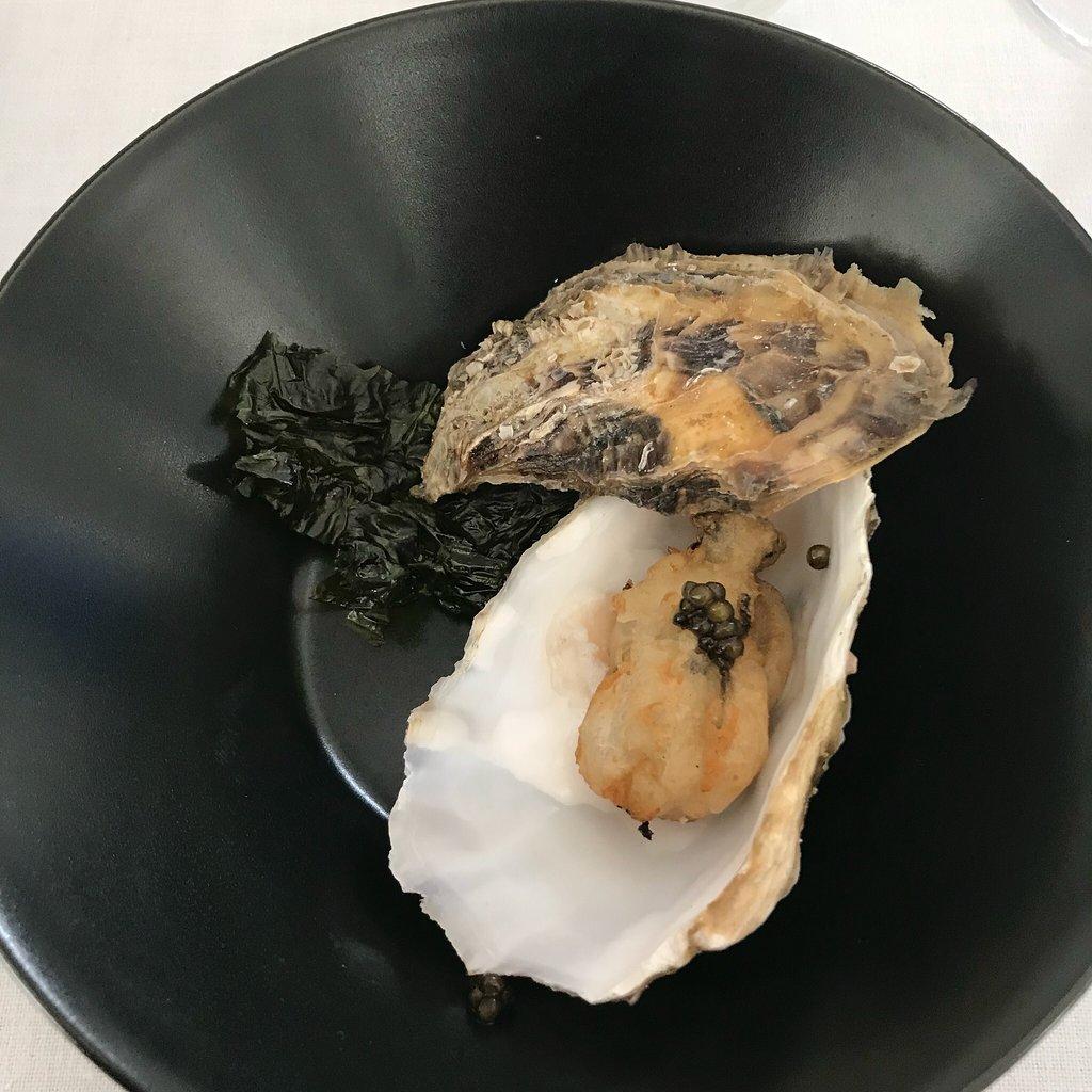 Restaurant o stea Michelin El Batan - Perlă neagră cu lime în smoothie de măr