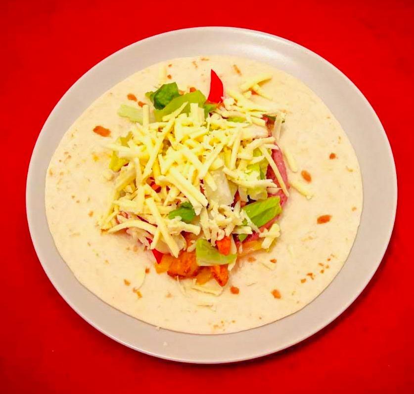 Burrito de pui - Asamblare
